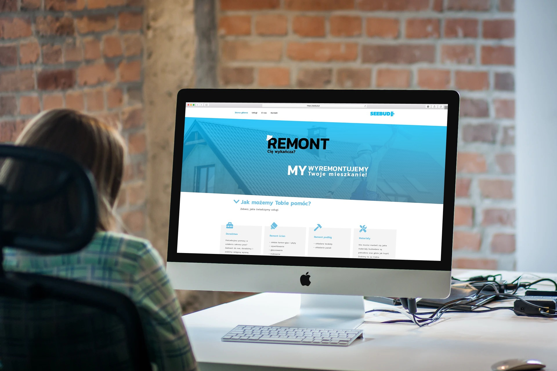 Strona Internetowa dla firmy remontowej seebud.pl